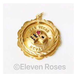 Jewelry - 14k Gold Las Vegas Nevada Pendant Charm